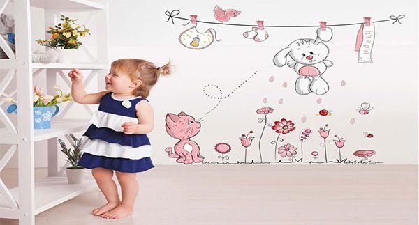 طراحی دیوار اتاق کودک - دکوراسیون اتاق کودک