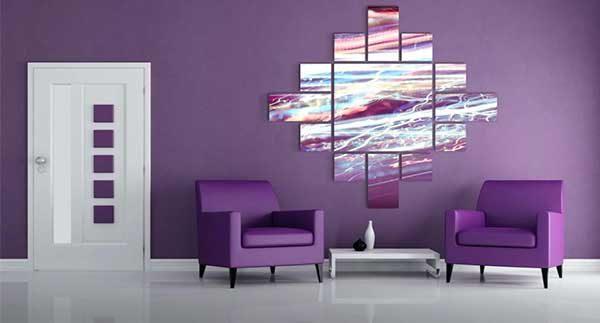 دکوراسیون بنفش با ترکیب رنگ های سرد و گرم