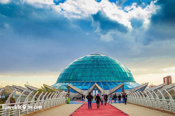 آسمان نمای گنبد مینا در پارک نوروز