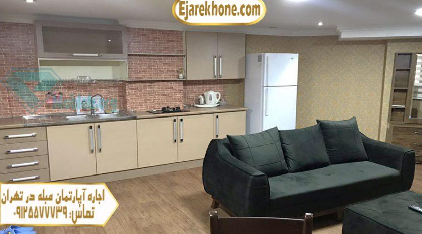 اجاره سوئیت در سعادت آباد تهران   اجاره آپارتمان مبله
