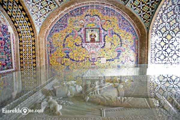 سنگ قبر ناصرالدین شاه در کاخ گلستان|اجاره خونه