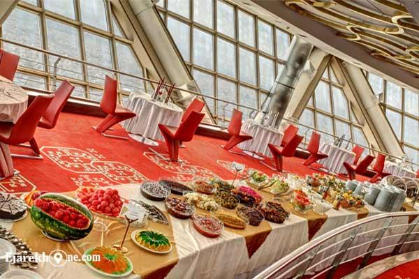 رستوران گردان برج میلاد|اجاره آپارتمان مبله در تهران