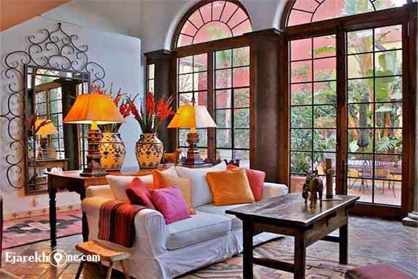 اجاره خونه:دکوراسیون سبک اسپانیایی