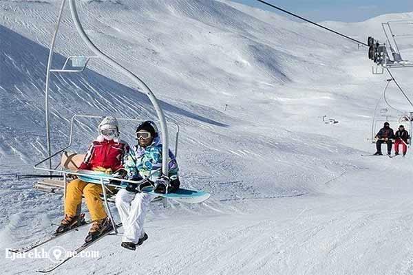 پیست اسکی دیزین | اسکی روی برف و چمن|اجاره خونه